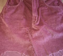 Nova Zara somot suknjica