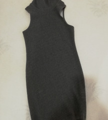 Siva dzemper haljina uska