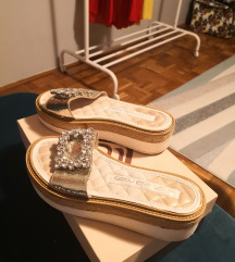 Antonella Rossi kožne papuče, broj 37, NOVO