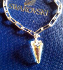 Srebrna ogrlica Swarovski crystal, S925, NOVO