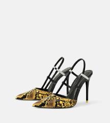 ZARA snake print sandalete