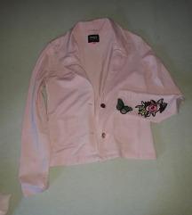 Roze pamucni sako