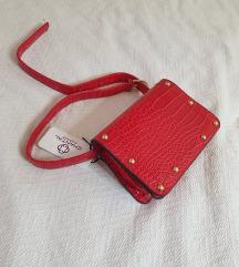 Crvena zmijska torbica / novo