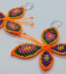 Makrame minđuše, Ručno rađene naušnice, Leptiri