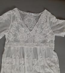 Predivna providna haljina za plazu dugacka bela