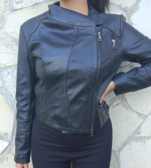 Crna DIVAX kožna jakna