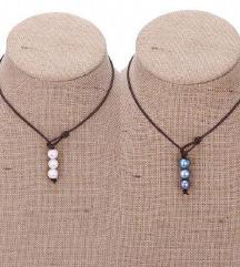 Ogrlica sa tri perlice nova