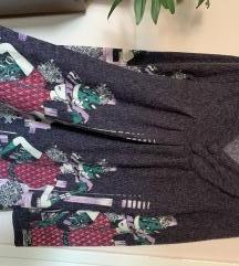 Ljubicasta zimska haljina L/XL