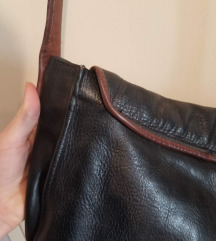 Vintage kožna crna torba