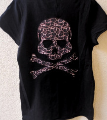 Majica sa lobanjom- leopar print S