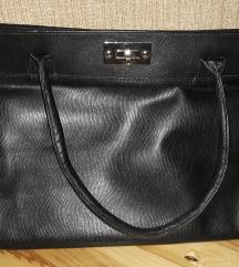 *SALE* Crna kozna torba prelepa!
