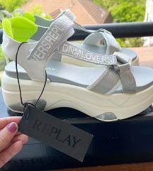 Replay srebrne zenske sandale NOVO!