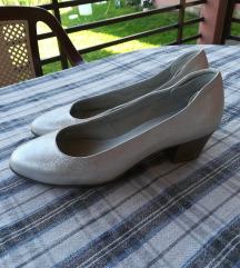 TAMARIS kozne srebrne cipele