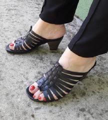 TAMARIS kozne crne papuce NOVE
