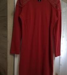 ZARA crvena uska haljina