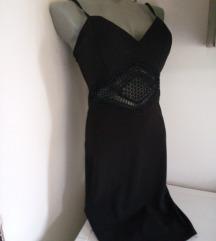 Cipkani romb crna haljina S