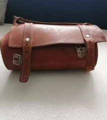 Vintage prava koza torbica