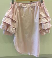 roze bluza/tunika zanimljivih rukava