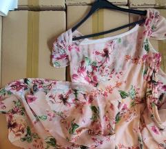 Romantična midi Orsay cvetna haljina