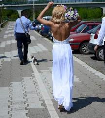 Diline haljina bela etiketa