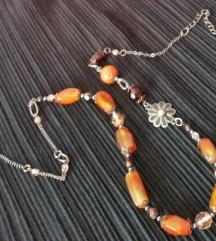 Ogrlica od poludragog kamena i češkog stakla, novo