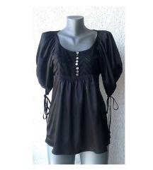 crna saten bluza tunika broj XS ili S GINA