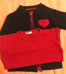 Decija jaknica i majica zajedno vel 4