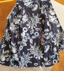 Zara midi suknja plisirana