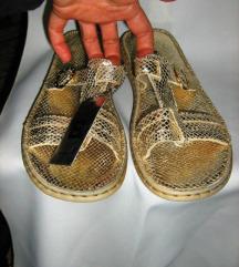 BIANCO kozne papuce -zlatne -39/40 nove
