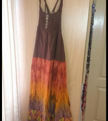 Predivna duga pamucna haljina