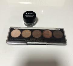 Nyx crna baza za oči i GR paleta