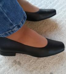 Crne kozne cipele - baletanke 24cm