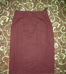 Burgundy suknja visokog struka S/M