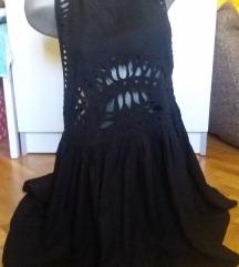 H&M crna haljina/tunika vrlo neobicna vel 42/L
