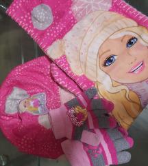 Barbie komplet ( kapa, sal i rukavice )