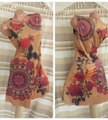 101 IDEAS ♔ camel iscrtana haljina kao Desigual