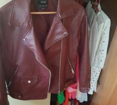 Bershka bordo jakna