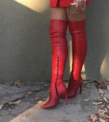 Kožne čizme preko kolena