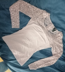 H&m Roze majca sa cipkom