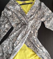 Lepršava haljina zmijski print