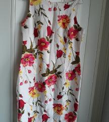 Lanena cvetna haljina