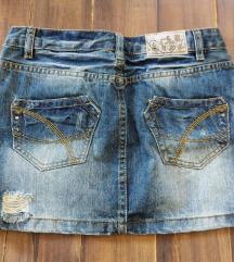 Savrsena teksas suknjica S