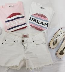 2 majice, šorts, bele starke i ring (poklon)