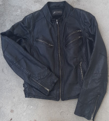 Crna kozna jakna od prave koze
