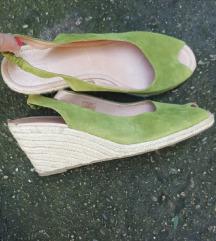 Di Marzio Italy zelene kozne espadrile