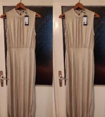 Nova sa etiketom Vero Moda zlatna duga haljina M