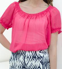 Roze leprsava bluza