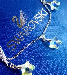 Swarovski Stars ⭐🌟 Ogrlica, Srebro925, NOVO