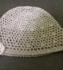 Kapa rucno pletena za devojcice 3-4god