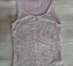 Amisu roze cipkana majica